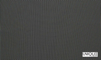 Unique Fabrics Outlines Brick - Obsidian  | Upholstery Fabric - Black, Charcoal, Outdoor Use, Small Scale, Standard Width