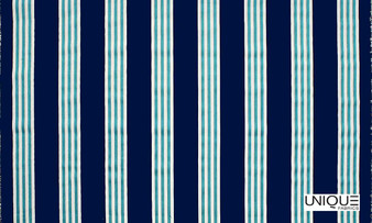 Unique Fabrics Outstanding II Limit - Caribbean  | Curtain & Upholstery fabric - Blue, Stripe, Outdoor Use, Teflon, Standard Width