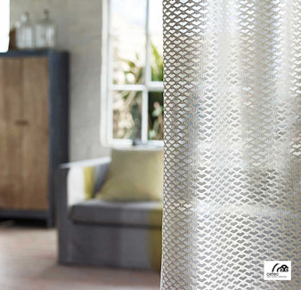 Cetec Shades Of Comfort Nets - 1099005312  | Curtain Fabric - Contemporary, Whites, Industrial, Modern, Pattern, Standard Width