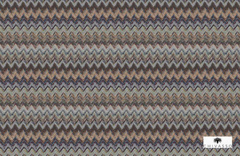 Chivasso Around The World Stonehaven - CH2869/020  | Curtain Fabric - Grey, Chevron, Zig Zag, Flame Stitch, Fibre Blend, Standard Width