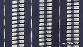 Zimmer and Rohde Ensemble Tango - 10668.597  | Curtain Fabric - Blue, Stripe, Eclectic, Standard Width