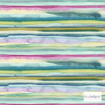 Bluebellgray Lomond - Multi  | Curtain & Upholstery fabric - Blue, Green, Pink, Purple, Stripe, Dry Clean, Abstract, Decorative, Natural
