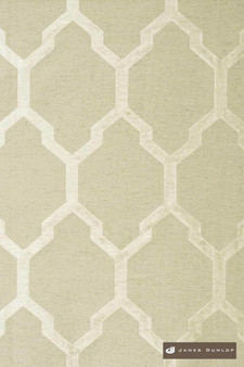James Dunlop Isobars - Silver    Curtain & Upholstery fabric - Washable, Mediterranean, Silver, Dry Clean, Geometric, Lattice, Trellis, Natural
