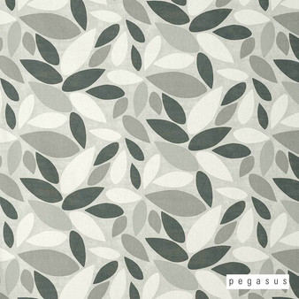 Pegasus Leafield - Pebble  | Curtain Fabric - Grey, Floral, Garden, Botantical, Dry Clean, Decorative, Natural, Natural Fibre, Standard Width