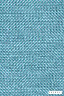 Pegasus Vidos - Aqua  | Upholstery Fabric - Washable, Turquoise, Teal, Outdoor Use, Chevron, Zig Zag, Herringbone, Plain, Standard Width