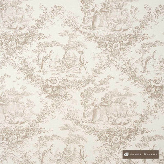 James Dunlop Loire - Sand  | Curtain & Upholstery fabric - Washable, Tan, Taupe, Traditional, Dry Clean, Natural, Toile, Natural Fibre, Standard Width