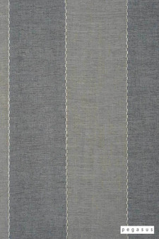 Pegasus Zanella * - Folkstone  | Curtain Fabric - Washable, Blue, Stripe, Traditional, Wide-Width, Dry Clean, Fibre Blend