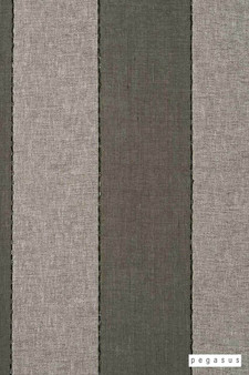 Pegasus Zanella * - Licorice  | Curtain Fabric - Washable, Brown, Tan, Taupe, Stripe, Traditional, Wide-Width, Dry Clean, Fibre Blend