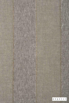 Pegasus Zanella * - Night  | Curtain Fabric - Washable, Brown, Tan, Taupe, Stripe, Traditional, Wide-Width, Dry Clean, Fibre Blend