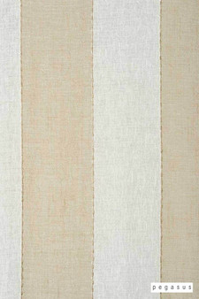 Pegasus Zanella * - Sandshell  | Curtain Fabric - Washable, Beige, Stripe, Wide-Width, Dry Clean, Fibre Blend