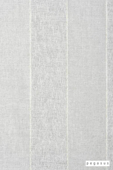 Pegasus Zanella * - Snow  | Curtain Fabric - Washable, Stripe, Traditional, Wide-Width, Dry Clean, Whites, Fibre Blend