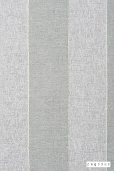 Pegasus Zanella * - Stillwater  | Curtain Fabric - Washable, Blue, Grey, Stripe, Traditional, Wide-Width, Dry Clean, Whites, Fibre Blend