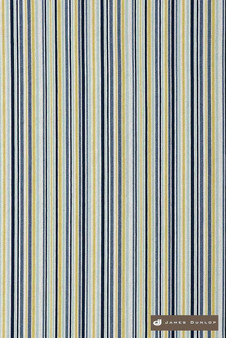 James Dunlop Direction - Harbour  | Upholstery Fabric - Washable, Blue, Gold, Yellow, Stripe, Eclectic, Dry Clean, Natural, Natural Fibre