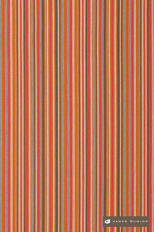 James Dunlop Direction - Summer  | Upholstery Fabric - Washable, Orange, Stripe, Eclectic, Dry Clean, Natural, Natural Fibre, Standard Width