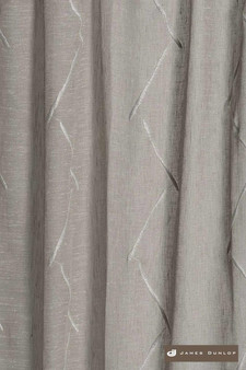 James Dunlop Freemans * - Concrete  | Curtain & Curtain lining fabric - Washable, Beige, Stripe, Wide-Width, Transitional, Dry Clean, Embroidery
