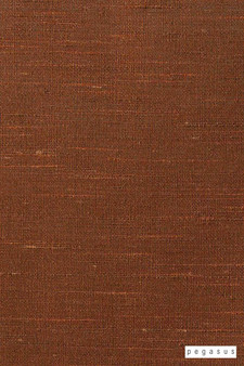 Pegasus Silk Road - Copper  | Curtain Fabric - Fire Retardant, Terracotta, Dry Clean, Plain, Slub, Fibre Blend, Standard Width