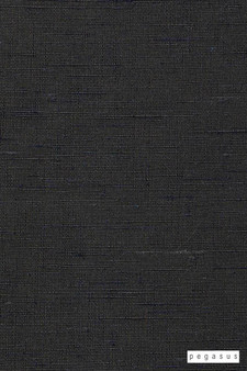 Pegasus Silk Road - Denim  | Curtain Fabric - Fire Retardant, Brown, Dry Clean, Plain, Slub, Fibre Blend, Standard Width