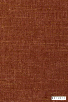 Pegasus Silk Road - Pumpkin  | Curtain Fabric - Fire Retardant, Terracotta, Dry Clean, Plain, Slub, Fibre Blend, Standard Width