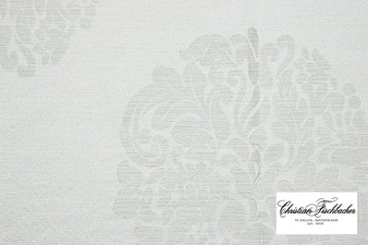 Christian Fischbacher Avance - 300  | Curtain Fabric - Washable, Silver, Embroidery, Whites, Decorative, Standard Width