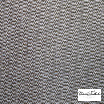 Christian Fischbacher Damian - 417    Upholstery Fabric - Grey, Whites