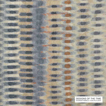 Designs Of The Time Sandor - YP13002  | Curtain & Upholstery fabric - Washable, Blue, Dry Clean, Abstract, Industrial, Natural, Pattern, Natural Fibre