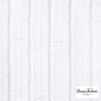 Christian Fischbacher Collage - 600  | Curtain & Curtain lining fabric - Washable, Stripe, Whites, Check, Fibre Blend, Standard Width