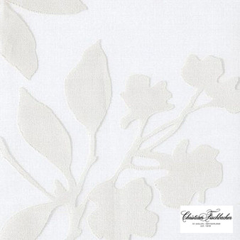Christian Fischbacher Silhouette - 217  | Curtain Sheer Fabric - Tan, Taupe