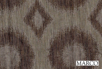 Marco Ikat - Earth  | Curtain & Upholstery fabric - Fibre Blend, Standard Width