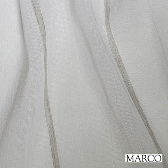 Marco Keppel - Taupe  | Curtain Sheer Fabric - Wide-Width