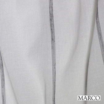Marco Keppel - Charcoal  | Curtain Sheer Fabric - Wide-Width