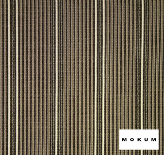Mokum Raffia Stripe - Basalt  | Upholstery Fabric - Brown, Fire Retardant, Outdoor Use, Stripe, Synthetic, Traditional, Washable, Commercial Use, Standard Width