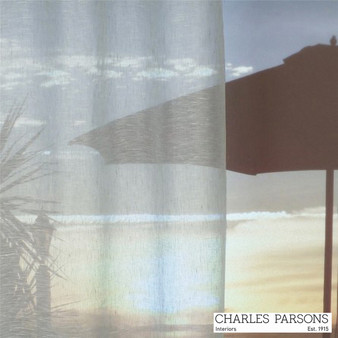 Charles Parsons Parisi - Silver  | Curtain Sheer Fabric - Grey, Plain, Natural Fibre, Uncoated, Domestic Use, Natural, Weighted Hem, Wide Width