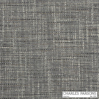 Charles Parsons Parisienne - Pewter  | Curtain & Upholstery fabric - Grey, Uncoated, Plain, Strie, Standard Width, Strie