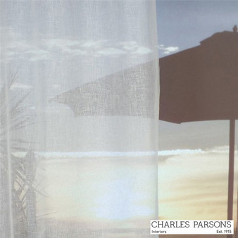 Charles Parsons Parisi - White  | Curtain Sheer Fabric - Plain, White, Natural Fibre, Uncoated, Domestic Use, Natural, White, Weighted Hem, Wide Width