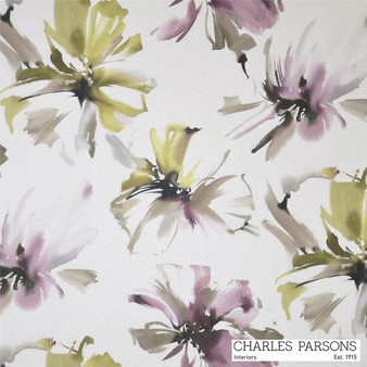 Charles Parsons Tropicana - Orchid  | Curtain Fabric - Washable, Pink, Purple, Contemporary, Floral, Garden, Botantical, Uncoated, Standard Width