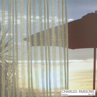 Charles Parsons Tennant - Creek Almond  | Curtain Sheer Fabric - Beige, Stripe, Synthetic, Traditional, Uncoated, Washable, Domestic Use, Weighted Hem, Wide Width
