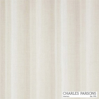 Charles Parsons Sierra - Putty  | Curtain Sheer Fabric - Linen/Linen Look, Washable, Beige, Stripe, Uncoated, Wide-Width