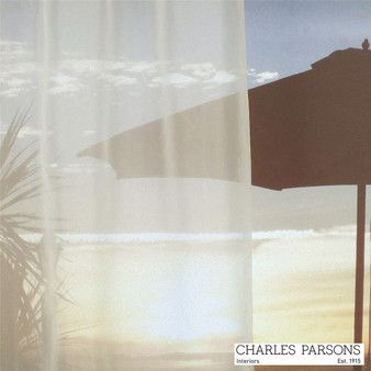 Charles Parsons Clarence - Ivory  | Curtain Sheer Fabric - Fire Retardant, Washable, Uncoated, Wide-Width, Whites, Plain