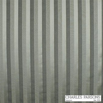 Charles Parsons Laurent - Pewter    Curtain & Upholstery fabric - Washable, Grey, Stripe, Traditional, Uncoated, Fibre Blend, Standard Width