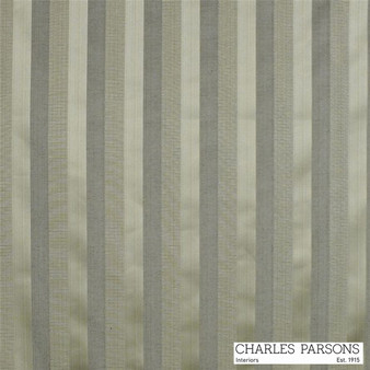 Charles Parsons Laurent - Cobblestone  | Curtain & Upholstery fabric - Grey, Fibre Blends, Stripe, Traditional, Uncoated, Washable, Commercial Use, Standard Width