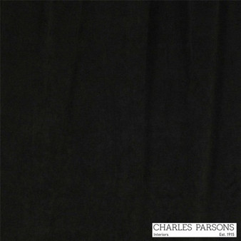 Charles Parsons Jazz - Black  | Curtain Fabric - Fire Retardant, Black, Charcoal, Uncoated, Velvets, Plain, Standard Width