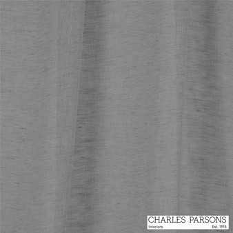 Charles Parsons Joe - Silver  | Curtain Sheer Fabric - Grey, Plain, Natural Fibre, Uncoated, Commercial Use, Natural, Weighted Hem, Wide Width, Birds