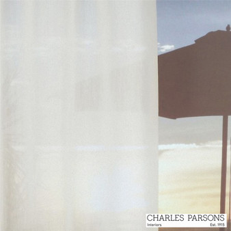Charles Parsons Etoile - Cream  | Curtain & Upholstery fabric - Fire Retardant, Plain, White, Synthetic, Uncoated, Washable, Commercial Use, White, Wide Width