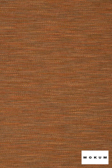 Mokum Serengeti - Copper  | Upholstery Fabric - Stain Repellent, Fire Retardant, Plain, Terracotta, Natural Fibre, Domestic Use, Dry Clean, Natural, Standard Width, Strie