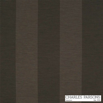 Charles Parsons Habitat - Cacao  | Curtain Fabric - Washable, Brown, Stripe, Traditional, Uncoated, Standard Width