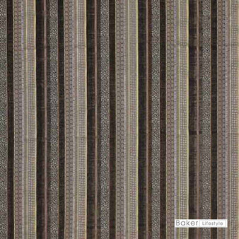 Baker Lifestyle - Santana - Eau De Nil  | Upholstery Fabric - Brown, Gold, Yellow, Contemporary, Stripe, Traditional, Standard Width
