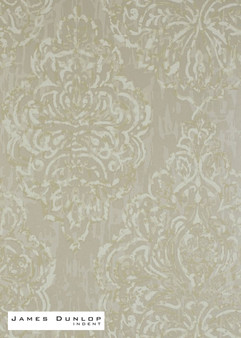 James Dunlop Indent - Decoupage Wallpaper - Linen  | Wallpaper, Wallcovering - Damask, Eclectic, Fibre Blends, Tan, Taupe, Traditional, Transitional, Domestic Use