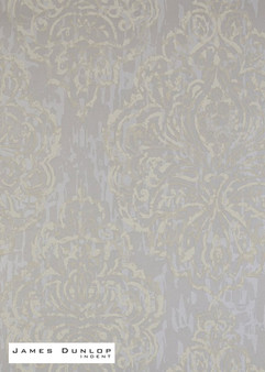 James Dunlop Indent - Decoupage Wallpaper - Platinum  | Wallpaper, Wallcovering - Grey, Silver, Damask, Eclectic, Fibre Blends, Traditional, Transitional, Domestic Use