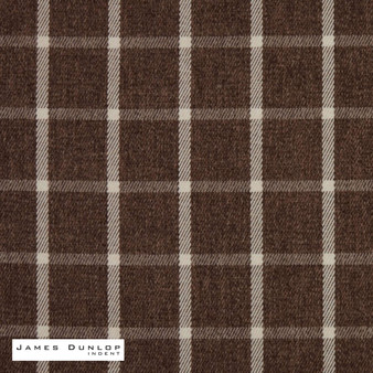James Dunlop Indent - Haddington - Bracken  | Curtain & Upholstery fabric - Brown, Fire Retardant, Check, Farmhouse, Fibre Blends, Geometric, Gingham, Washable, Dry Clean