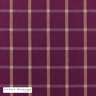 James Dunlop Indent - Haddington - Thistle  | Curtain & Upholstery fabric - Fire Retardant, Check, Farmhouse, Fibre Blends, Geometric, Gingham, Pink, Purple, Washable
